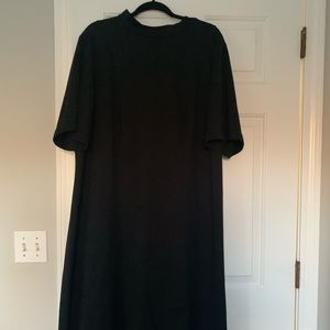 PLUS SIZE Mid Calf, Thick Material, Black Dress